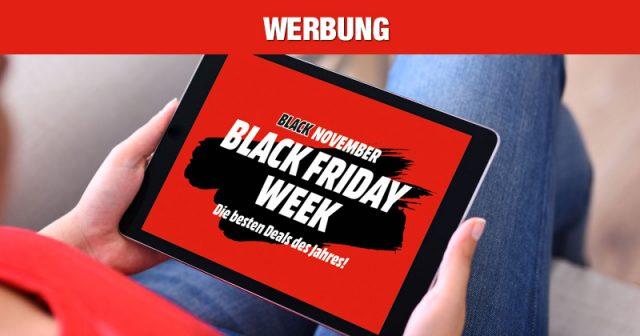 Die Black Friday Week 2020 von MediaMarkt läuft bis zum 29.11.2020 (Abbildung: MediaMarktSaturn)