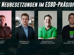 Das frischgewählte ESBD-Präsidium (Fotos: ESBD / Maria Manneck / Alina Ehrmann)