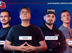 Das ALDI Gaming-Team: Feelfifa Erné, Noway, Gustaf Gabel und Feelfifa Stefan (Abbildung: ALDI)