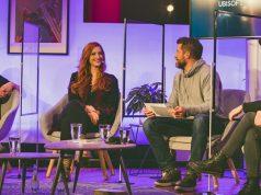Die Moderatoren beim Deutschen Entwicklerpreis 2020: Daniel Budiman, Lara Loft, Fabian Siegismund und Valentina Birke (Foto: Deutscher Entwicklerpreis)