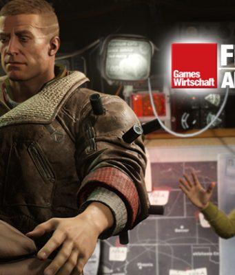 Ich verkaufe diese feinen Lederjacken: Szene aus Wolfenstein 2: The New Colossus (Abbildung: Bethesda)