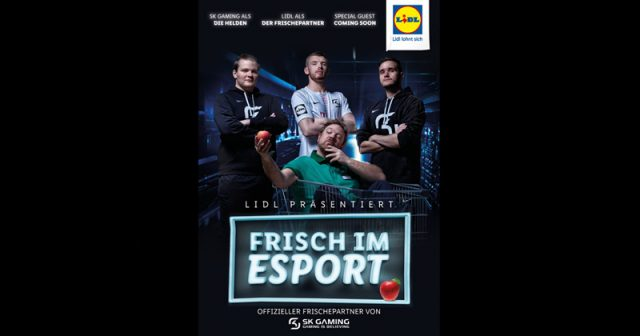 Frisch im E-Sport: Lidl kooperiert mit SK Gaming (Abbildung: Lidl)