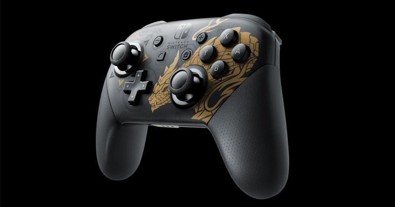 Separat für rund 75 Euro erhältlich: Nintendo Switch Pro Controller im Monster Hunter Rise-Design (Abbildung: Nintendo)