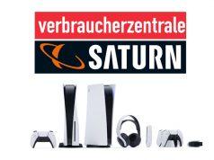 PlayStation-5-Ärger: Die Verbraucherzentrale Sachsen mahnt Saturn ab (Abbildungen: Sony Interactive, Verbraucherzentrale Bundeszentrale, MediaMarktSaturn)