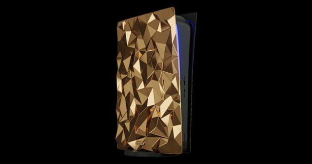 Hier ist alles Gold, was glänzt: Die PlayStation 5 in 750er-Gold (Abbildung: Caviar)