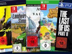 Einige der 20 meistverkauften Games 2020 in Deutschland (Abbildungen: Hersteller)