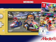 Top-Angebot aus dem MediaMarkt Gutscheinheft 2021: Switch Lite plus Mario Kart 8 Deluxe (Abbildungen: MediaMarktSaturn / Nintendo)
