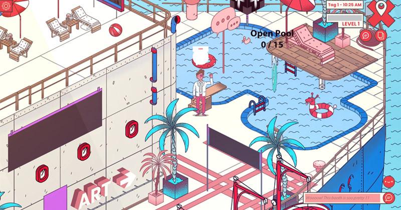 So sehen die digitalen 'Messestände' der Hamburg Games Conference 2021 aus (Abbildung: GameCity Hamburg)