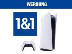DSL-Angebot von 1&1: Auf Wunsch lässt sich die PlayStation 5 gegen Aufpreis dazubuchen (Abbildungen: Sony, 1&1)