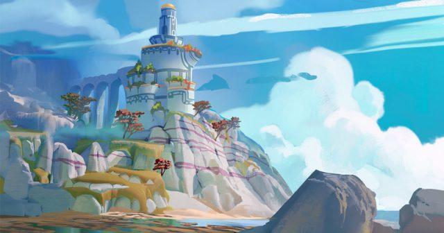Eine erste Skizze zeigt die Spielwelt von des Rollenspiels Wattwanderung (Arbeitstitel) - Abbildung: King Art Games