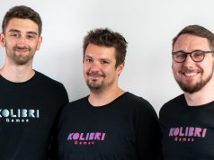 Drei der vier Gründer von Kolibri Games: Oliver Löffler, Daniel Stammler und Janosch Sadoswski (Foto: Kolibri Games)