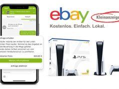 PlayStation 5 bei Ebay Kleinanzeigen: Die Polizei warnt vor Betrügern (Abbildungen: Ebay Kleinanzeigen GmbH, Sony Interactive)