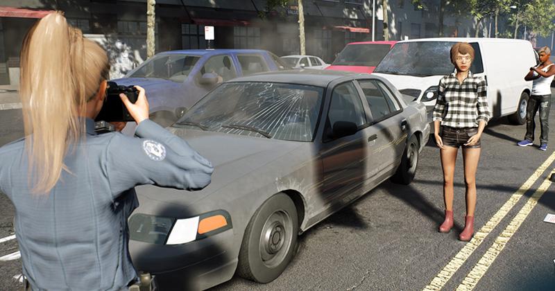 Wer auffährt, hat Schuld: Streifen-Alltag im Police Simulator (Screenshot: Astragon Entertainment)