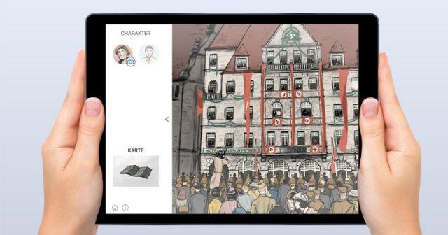 Serious Game Behind the Scenes: Nuremberg 34 (Abbildung: Dokumentationszentrum Reichsparteitagsgelände Nürnberg, 2021)
