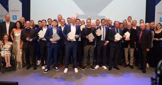 Die Preisträger beim Deutschen Sportjournalistenpreis 2019 (Foto: Veranstalter / BrauerPhotos / O. Walterscheid)