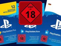 Kleiner, aber feiner Unterschied: Das Ab-18-Stop-Schild auf der PSN-Guthabenkarte ähnelt zwar dem USK-Logo, ist aber eine Sony-Eigen-Entwicklung (Abbildung: Sony Interactive)