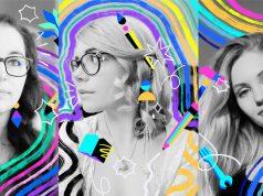 Künstlerin Sabrena Khadija portraitiert die Twitch-Streamerinnen Pewy, Honeyball und Krissi (Abbildungen: Twitch)