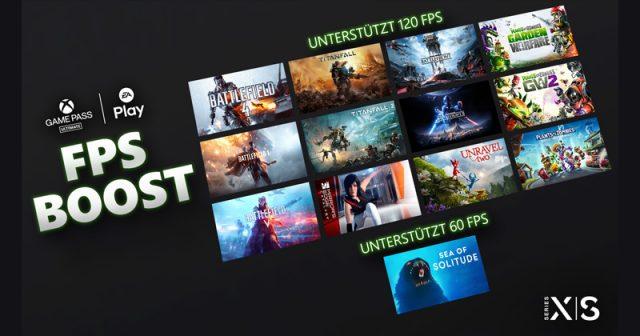 13 EA-Spiele profitieren vom FPS Boost der Xbox Series X / S (Abbildung: Microsoft)