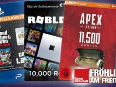 GTA-Dollar, Roblox-Robux, Apex-Münzen: Mit Digitalwährungen werden Milliarden-Umsätze generiert (Abbildungen: Sony, Roblux, EA)