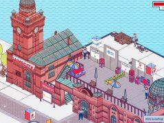 An prägnanten Orten wie den Landungsbrücken präsentiert sich Hamburgs Spielebranche im Gamecity Online Hub (Abbildung: Super Crowd Enterainment)