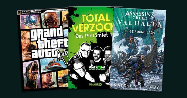 Lösungsbücher, Biografien, Romane: Die Nachfrage nach Games-Literatur steigt - auch in Deutschland (Abbildungen: Brady Games, Knaur, Panini)