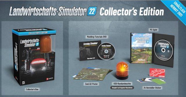 Enthält eine USB-Rundumleuchte: die Landwirtschafts-Simulator 22 Collector's Edition (Abbildung: Giants Software)