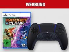 Top-Angebot von MediaMarkt und Saturn: PS5-Neuheit Ratchet & Clank: Rift Apart plus DualSense-Controller in Midnight Black im Bundle (Abbildungen: Sony Interactive)