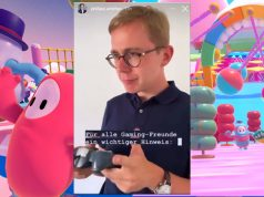CDU-Politiker Philipp Amthor tritt in Fall Guys gegen 'Gaming Influencer' an (Abbildungen: Instagram / Mediatonic)