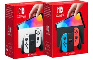 Das neue Nintendo Switch OLED-Modell ist in Weiß und Schwarz/Neon-Rot/Neon-Blau erhältlich (Abbildungen: Nintendo of Europe)