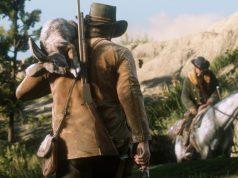Red Dead Redemption 2: Arthur Morgan zieht erlegten Hasen das Fell über die Ohren (Abbildung: Rockstar Games)