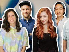 Das Moderations-Team von Game Two: Simon Krätschmer, Sofia Kats, Nils Bomhoff, Lara Loft, Daniel Budiman und Etienne Gardé (Abbildung: Rocket Beans Entertaiment)