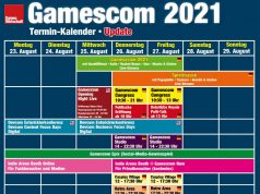 Gamescom 2021: Der finale Zeitplan (Stand: 25.8.2021)