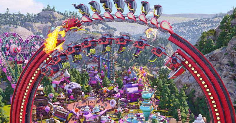 """Eigentlich """"unmögliche"""" Achterbahnen und Fahrgeschäfte sind die Spezialität von Park Beyond (Abbildung: Bandai Namco Entertainment)"""