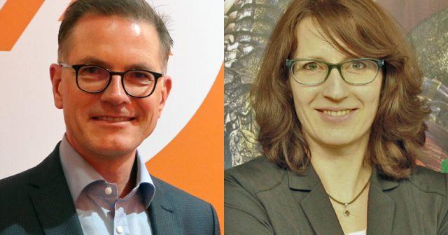 Jens Kosche übergibt die Leitung der Electronic Arts GmbH an Michaela Bartelt-Kranz (Fotos: EA / Fröhlich)