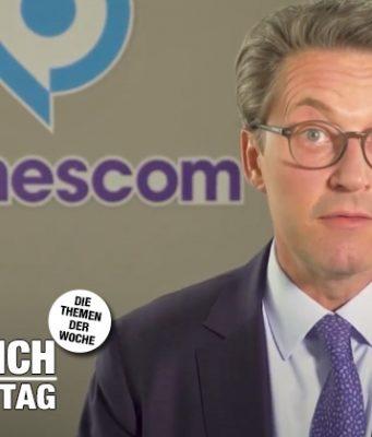 Verkehrsminister Andreas Scheuer (CSU) bei seinem Grußwort zur digitalen Gamescom 2021 (Quelle: YouTube)