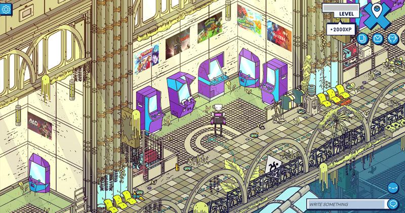 Avatare, Quests, Erfahrungspunkte: Die Indie Arena Booth Online ist wie ein Online-Rollenspiel gestaltet (Abbildung: Super Crowd Entertainment)