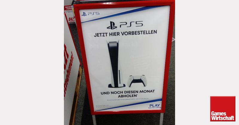 PS5-Kauf bei MediaMarkt: Solche Aufsteller wurden am 4. September in vielen Filialen platziert - danke an unseren Leser Markus für das Foto.