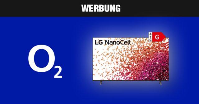 Nur solange Vorrat: O2 Free M-Vertrag mit LG Nanocell-4K-TV (Abbildung: O2)